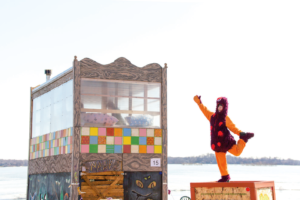 Ice Shanty Projects, 2017 is on Lake Harriet in Linden Hills until February 11, 2018
