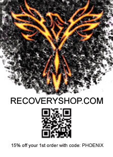 15% off your 1st order with code: PHOENIX. Recovery Shop, low-price leader providing products for recovery communities worldwide since 1998. Over 150,000 medallions in stock. 1-888-798-3496. recoveryshop.com